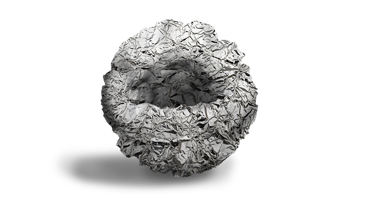 You should now be left with a foil shape similar to this: