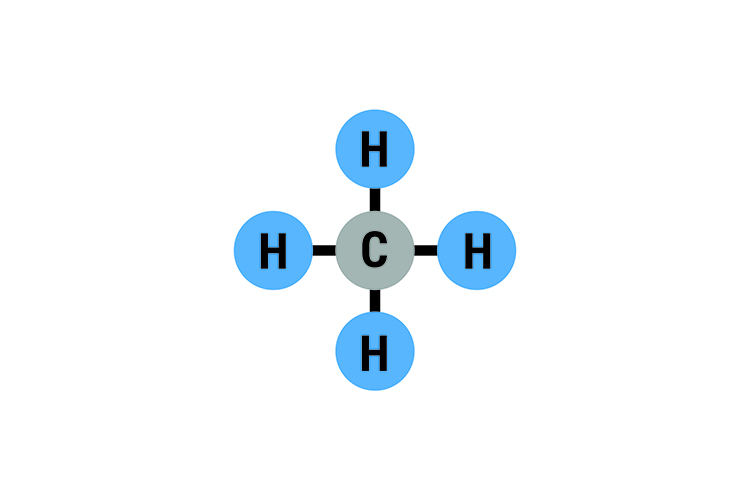Methane has a boiling point of minus 162⁰C and is gathered at the top off the chamber