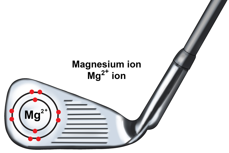 Magnesium has lost 2 negatively charged particles therefore it is Mg2+