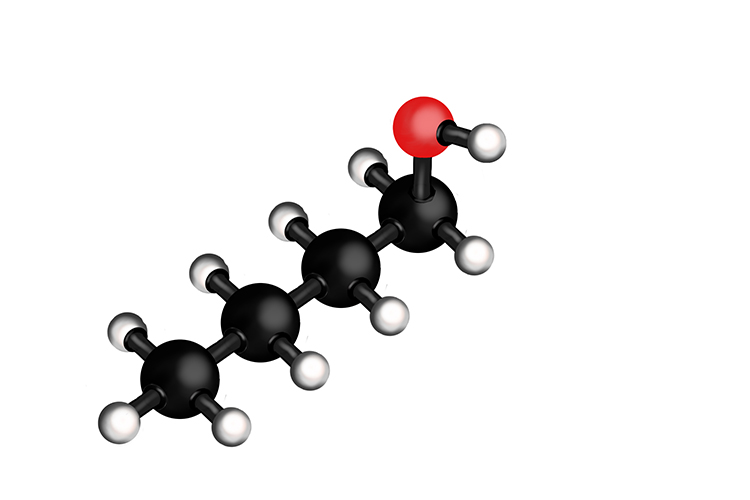 3D Butanol molecule bonding's