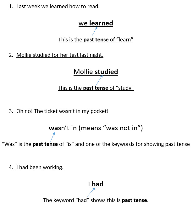 English grammar, how to remember past tense