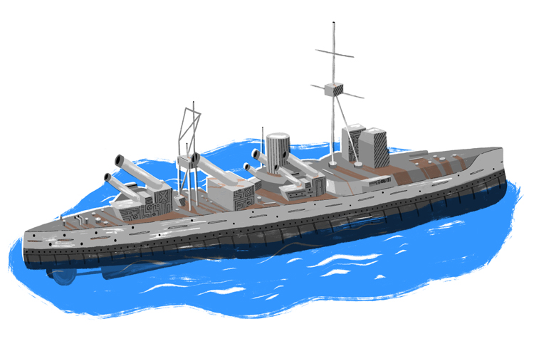The battle ship was the second largest of the British fleet