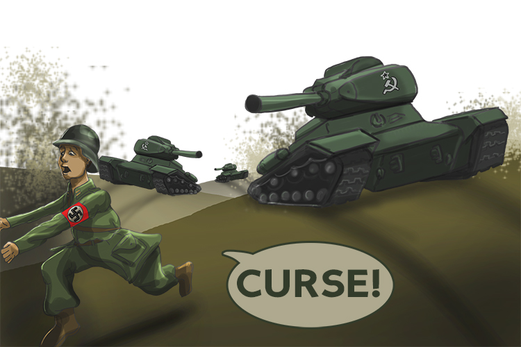 Curse (Kursk). We can't get through these tanks