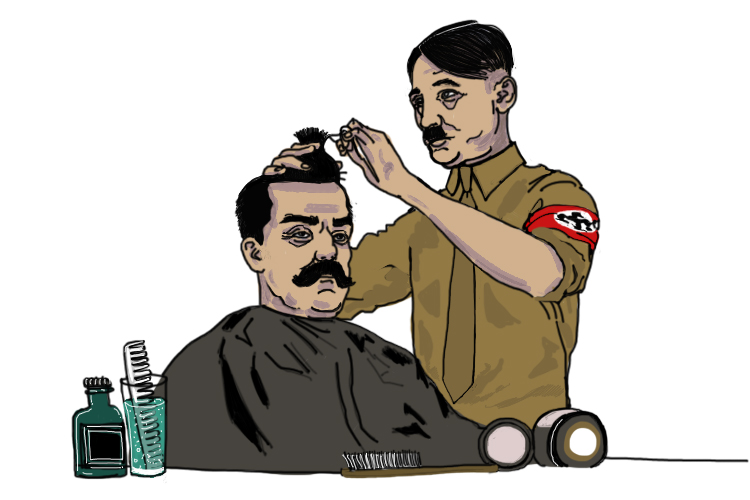 "The barber rose up (Barbarossa) in Germany and said: ""We are going to give the Soviet Union a haircut!"""