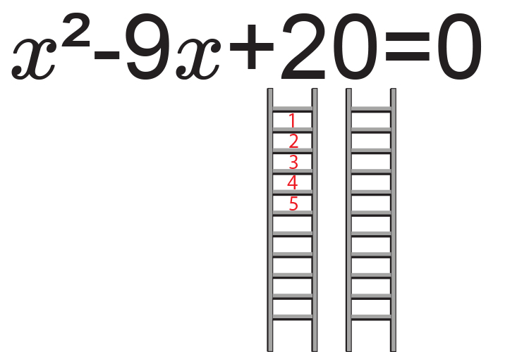 Fill in the first ladder for 20