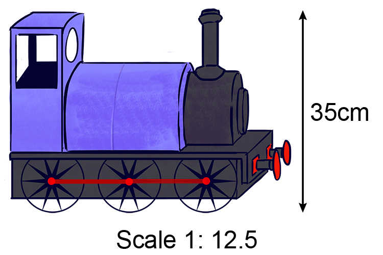 if a scale is 1:12.5 then for every 1 there is 12.5