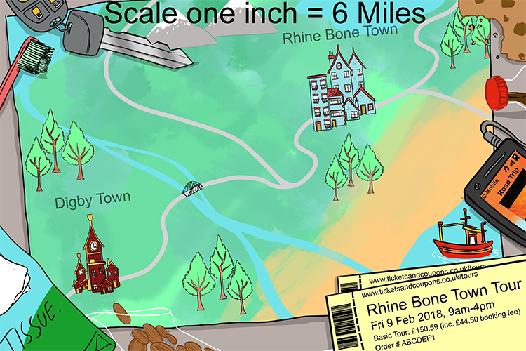 To measure the distances on a map you need to use the scale first