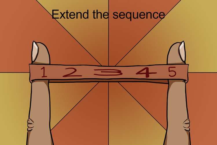 To find the full nth term we need to extend the sequence