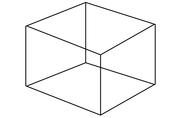 A cubes sides are all perpendicular at right angles
