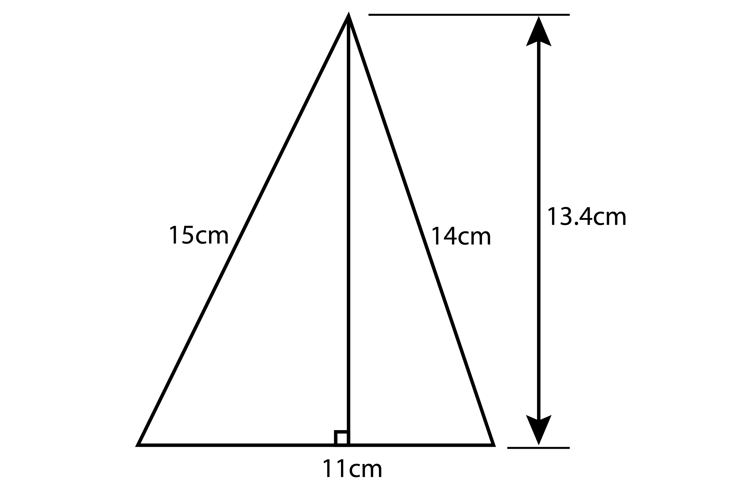 Try and work out the area of this triangle