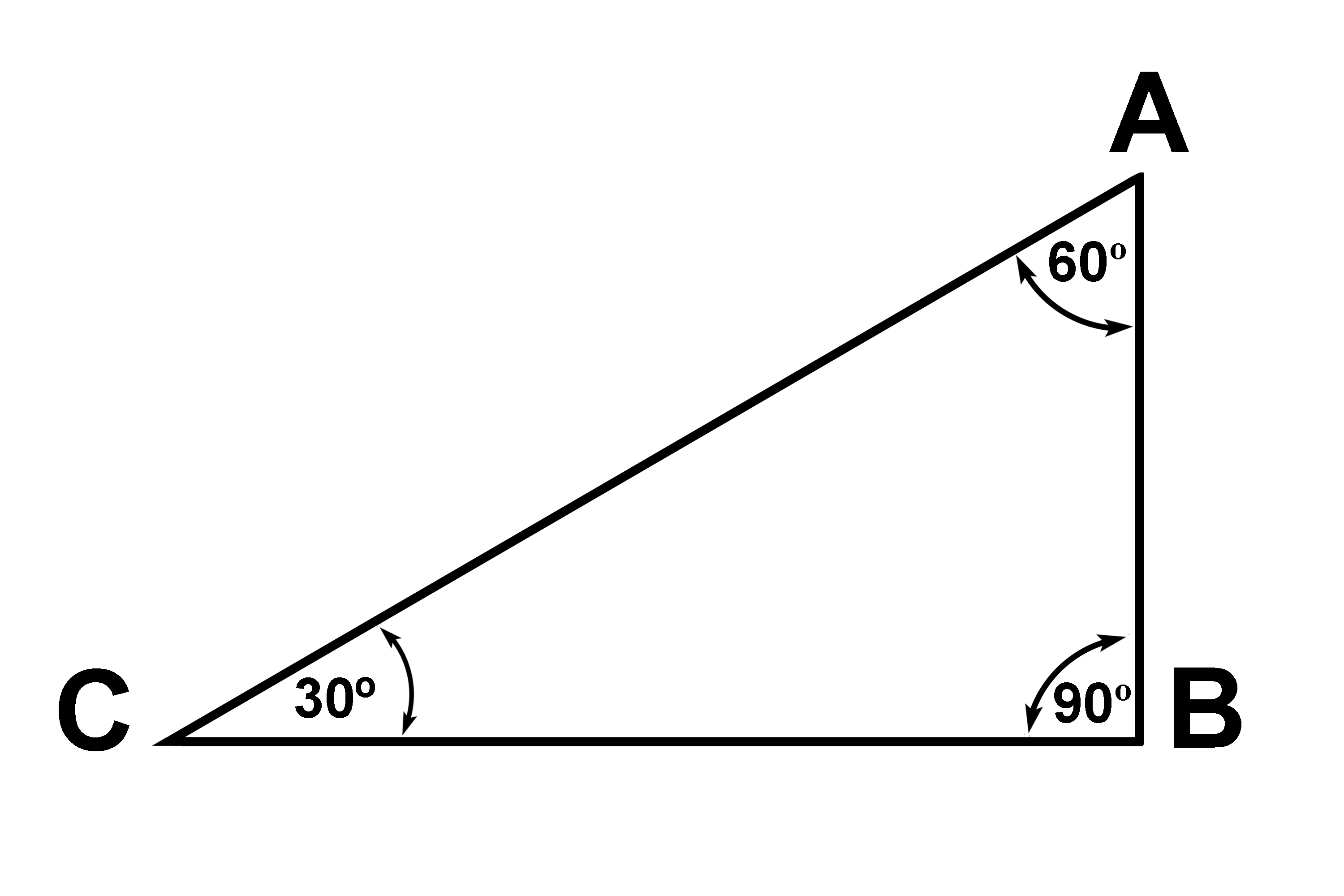 The total angles of a triangle equals 180 degrees