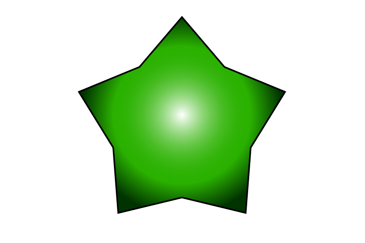 A star is a decagon but it is irregular