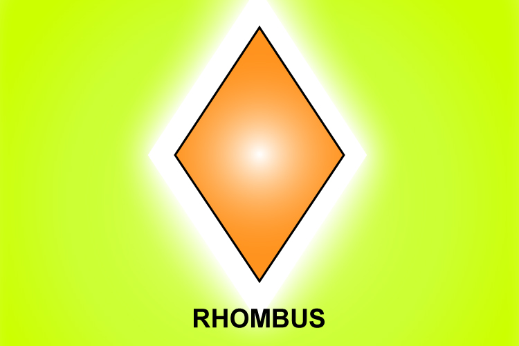 A rhombus orientated the correct way is the shape of a diamond
