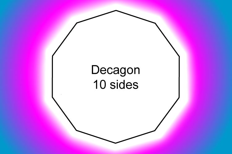 A regular decagon has 10 equal sides