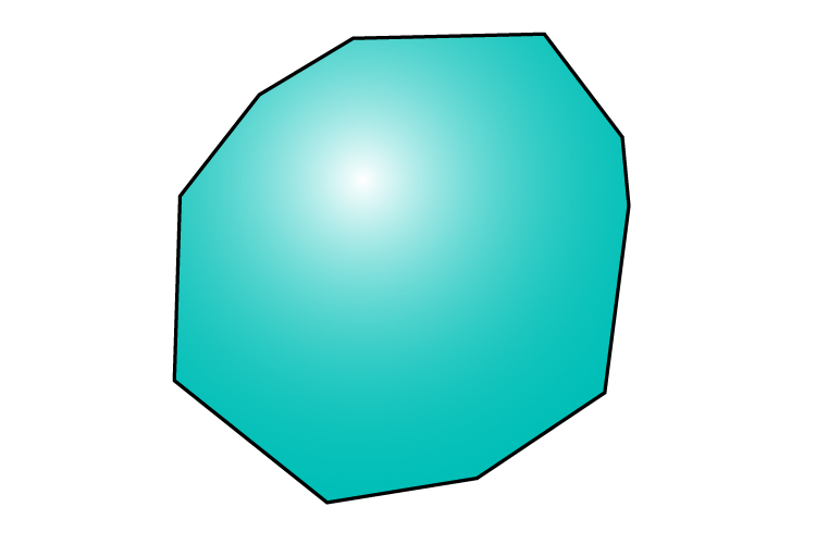 This is irregular but is still a decagon