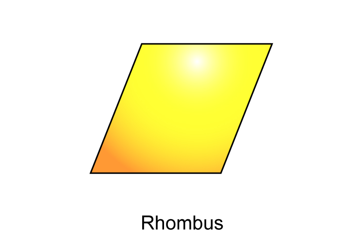 A rhombus is a quadrilateral