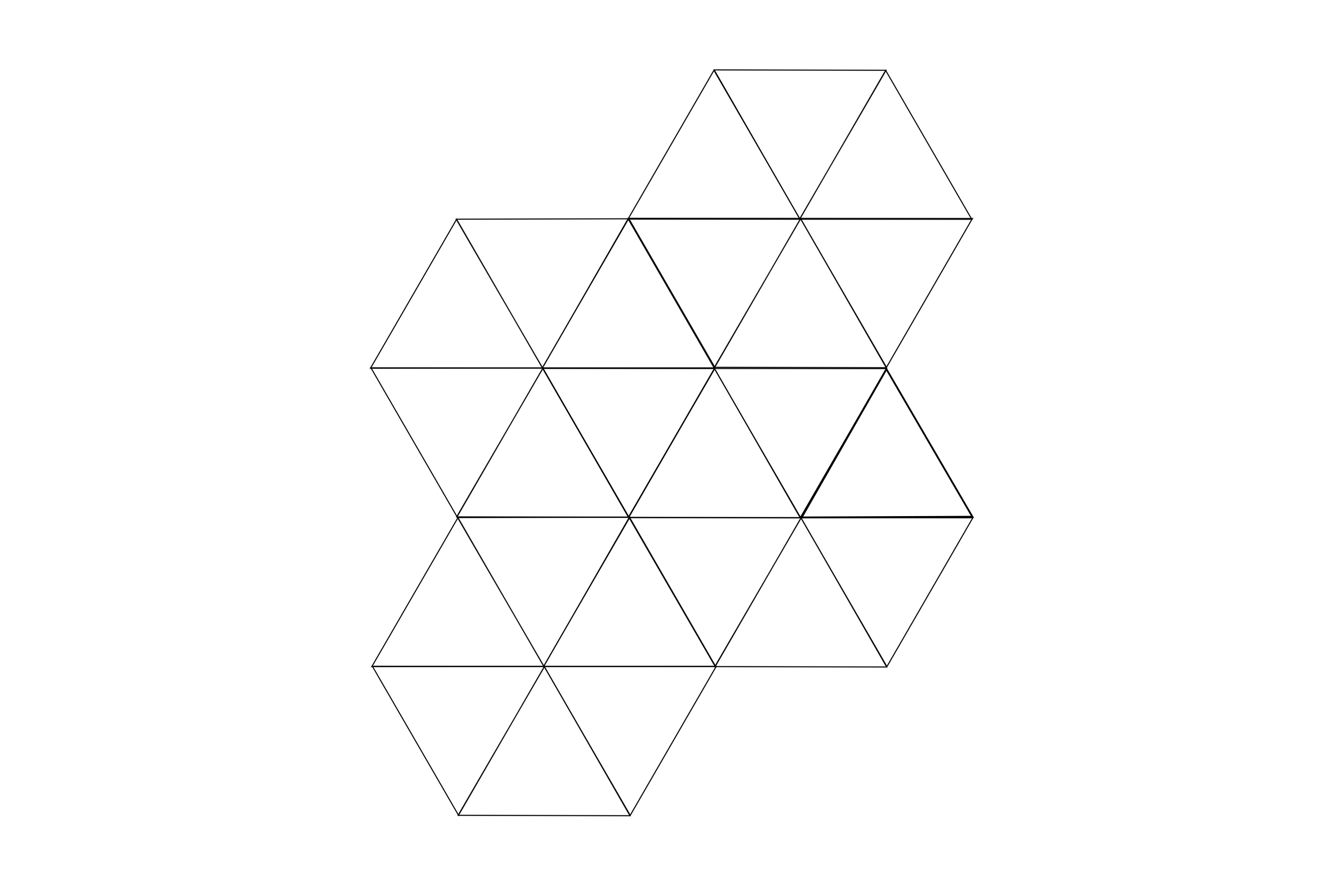 Write each internal angle size of this tessellation of equilateral triangle