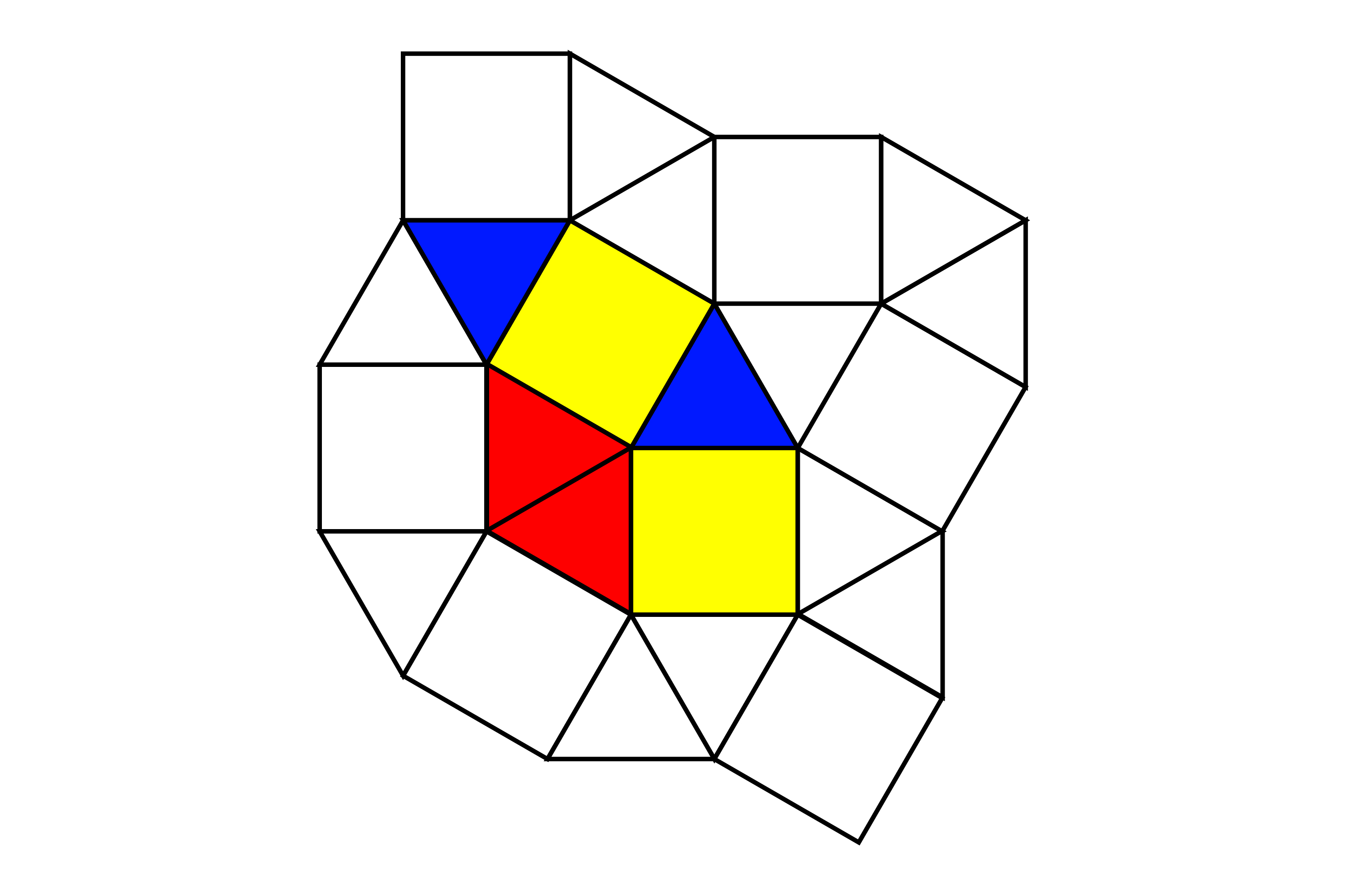 Why can equilateral triangles and squares form a tessellation