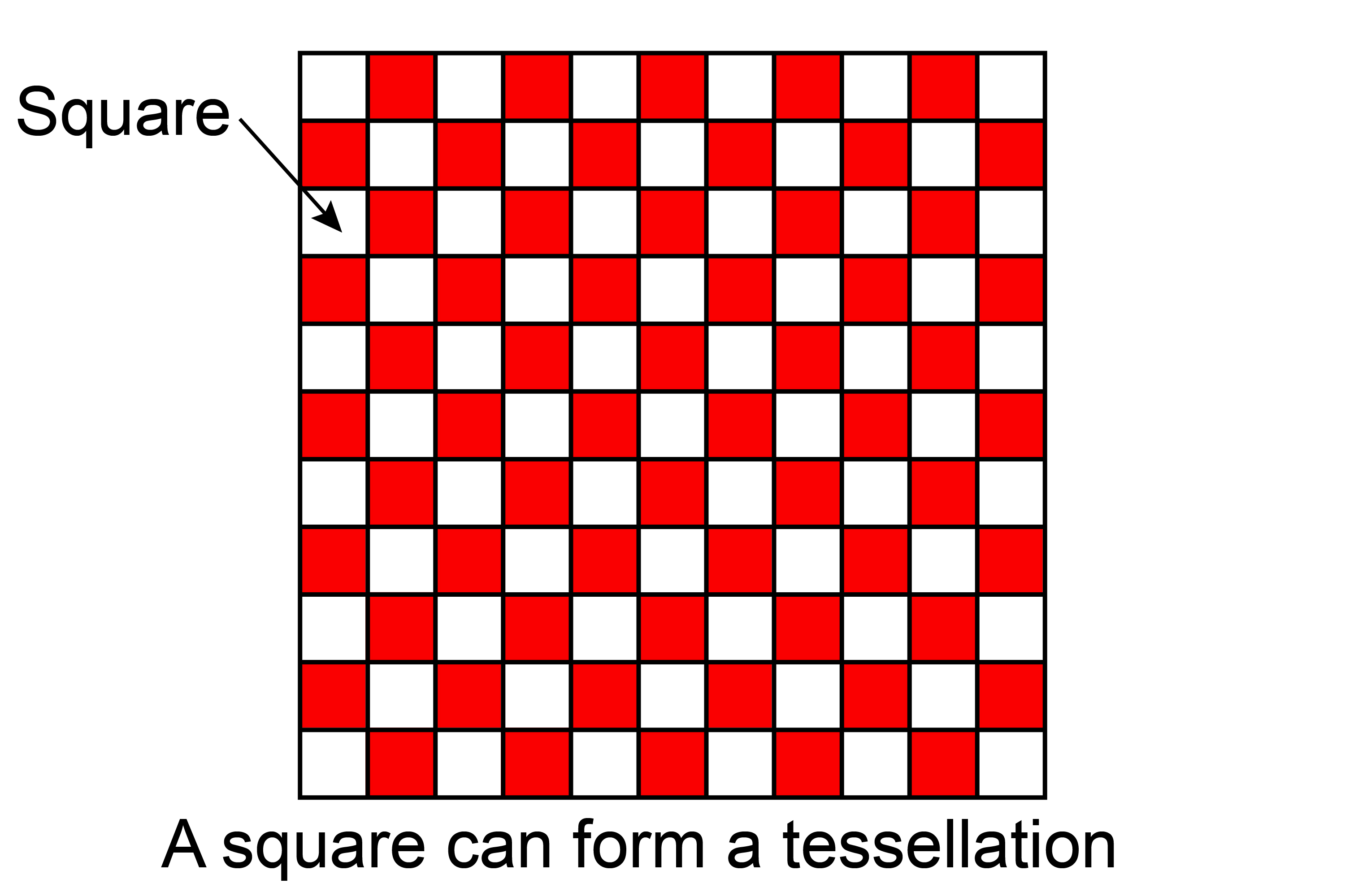 Squares make tessellation
