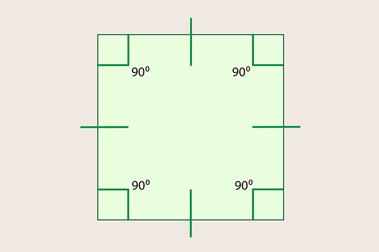 The internal angles of a square divided by 360 makes 4 this a whole number meaning it will tessellate