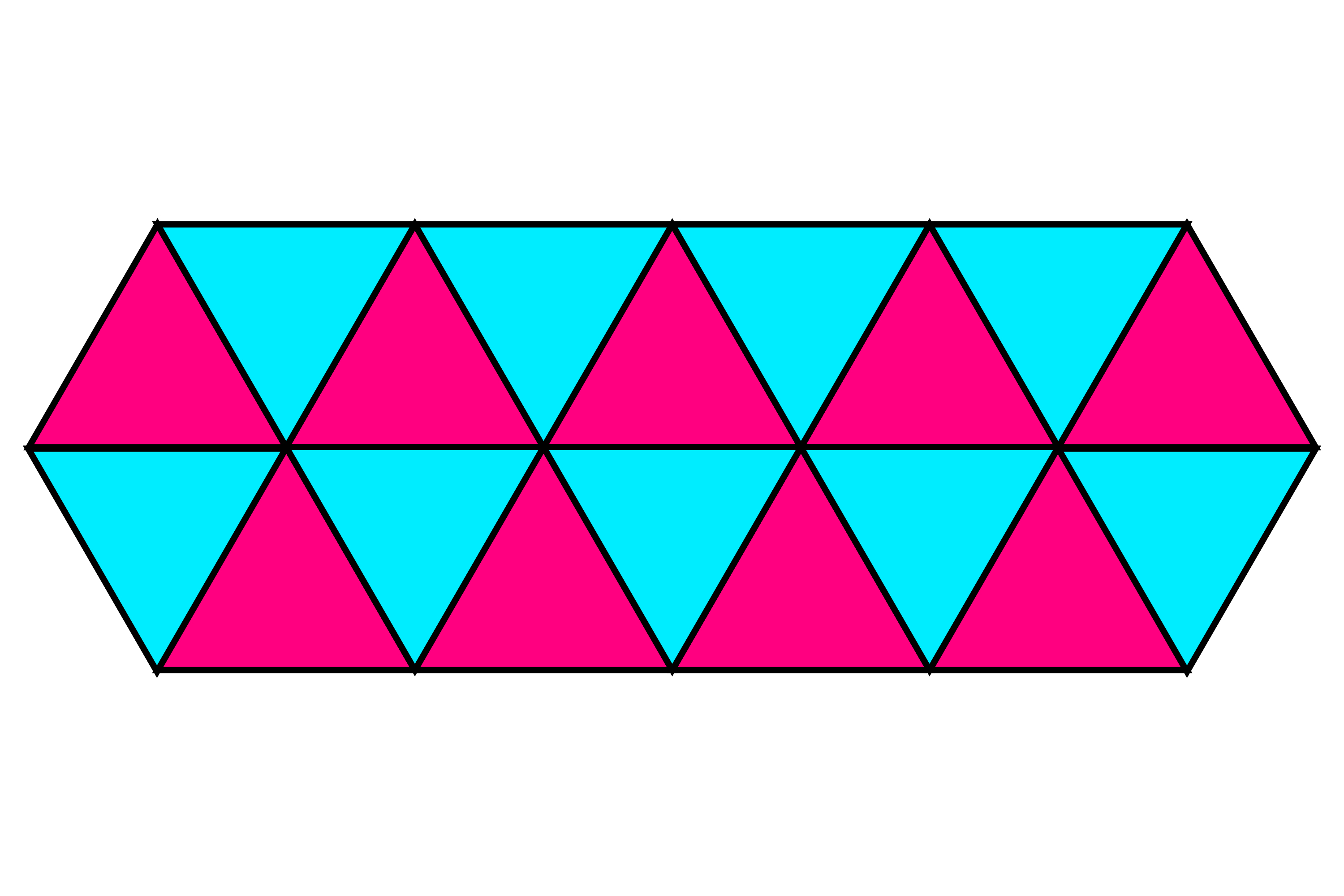 Triangles make tessellations