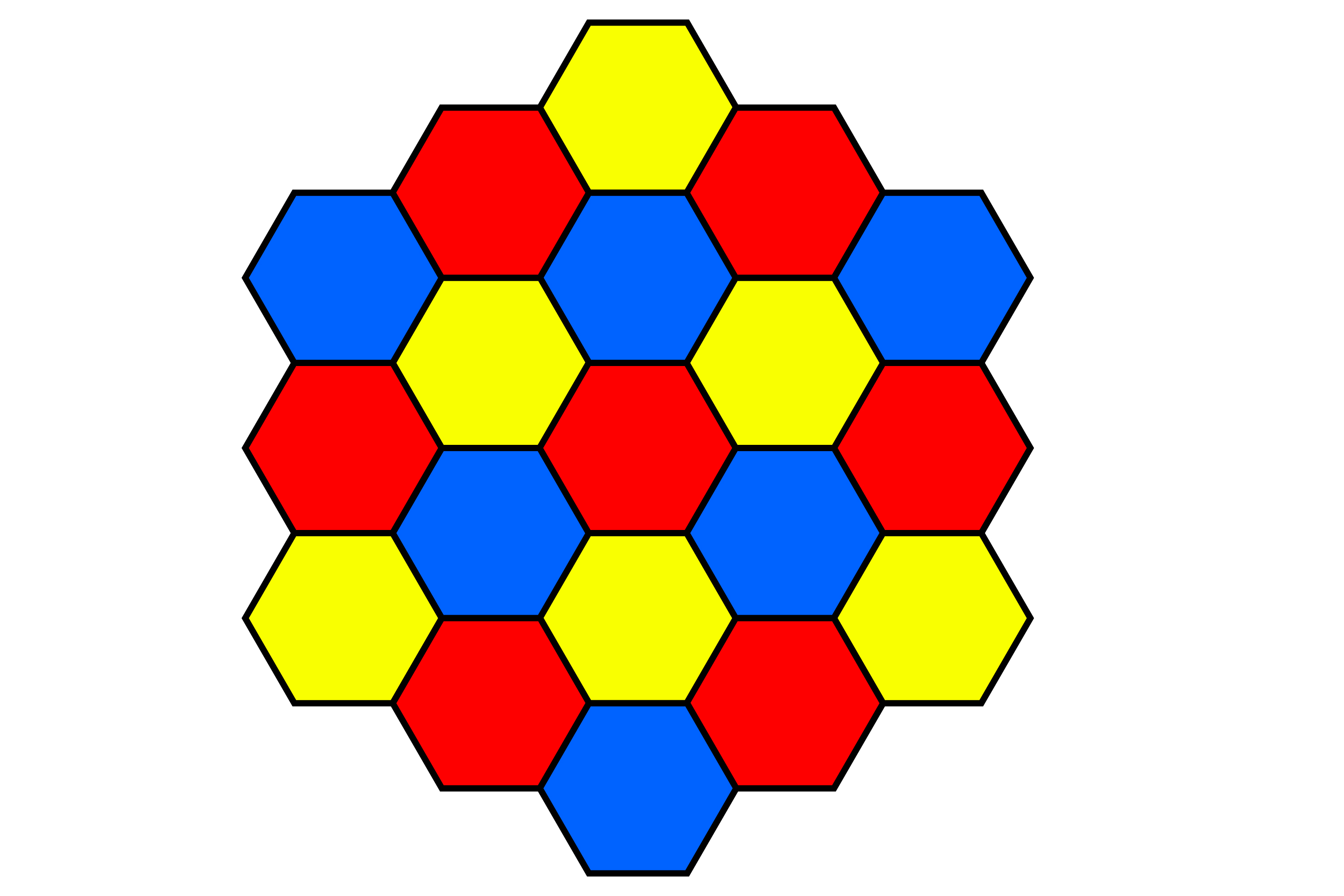Hexagons make tessellations