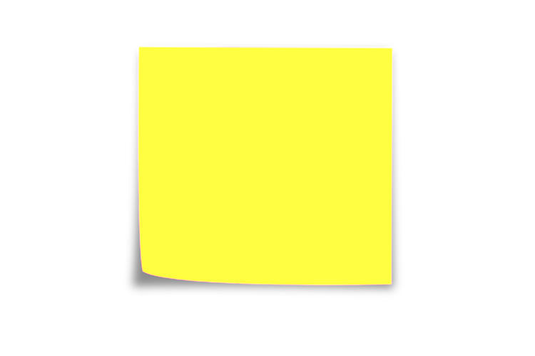 Get a post it note or a square bit of paper