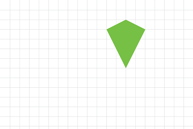 Draw this quadrilateral triangle 5 times as a tessellation
