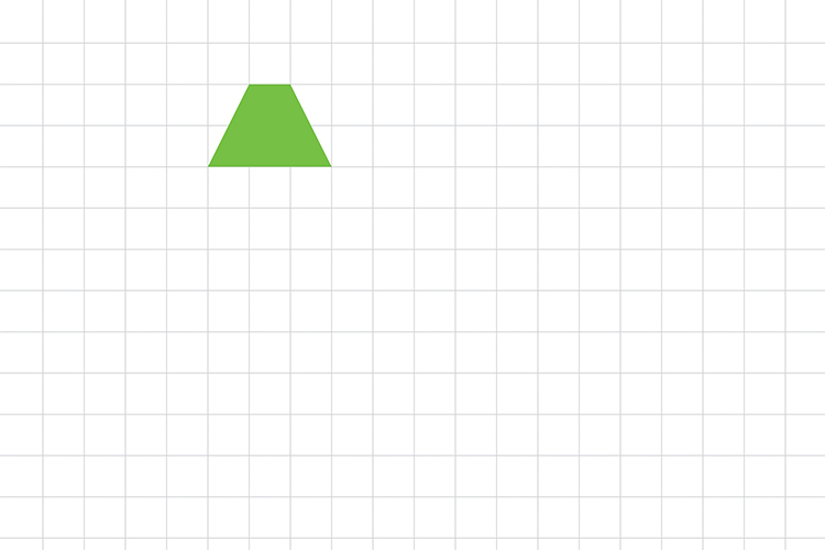 Draw this quadrilateral triangle 7 times as a tessellation