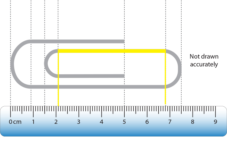 The yellow line measures 4.7cm