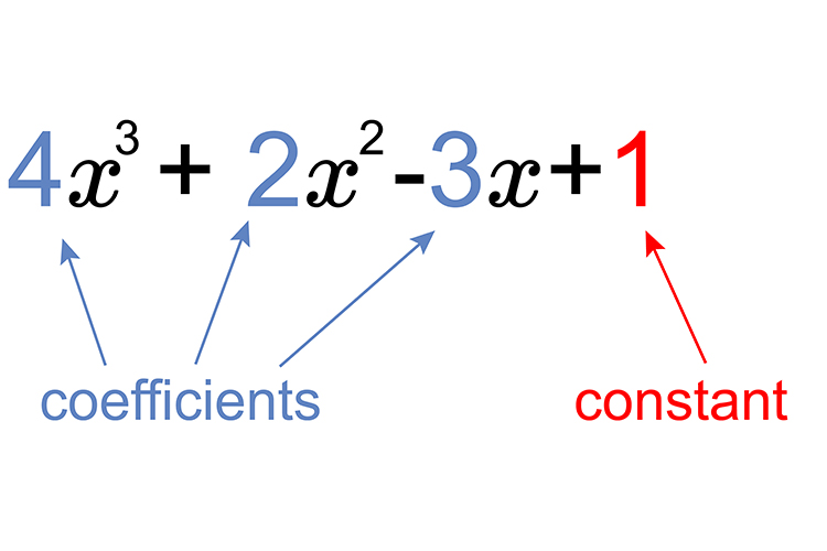 4x+2x-3x+1 in this example there are 3 coefficients