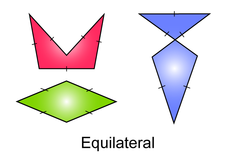 Polygons with sides of equal length are called equilateral polygons