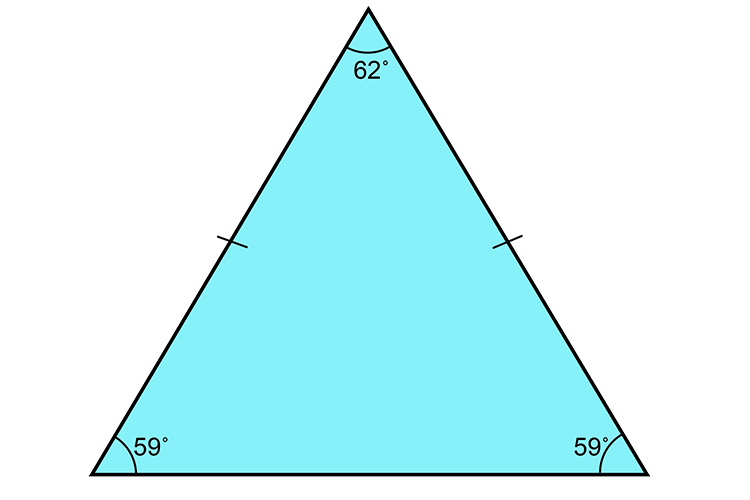 Another example of an isosceles triangle