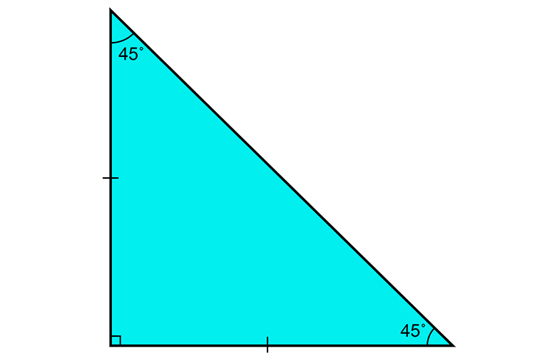 A right-angled triangle can also be an isosceles triangle as long as two sides are of the same length