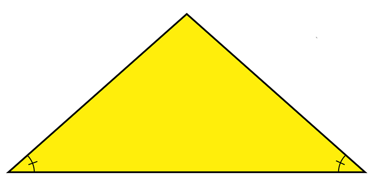 A triangle with 2 internal angles the same will be an isosceles