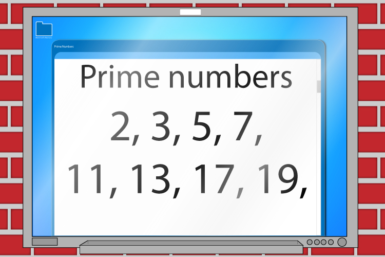 All prime numbers are 2,3,5,7,11,13,17,19