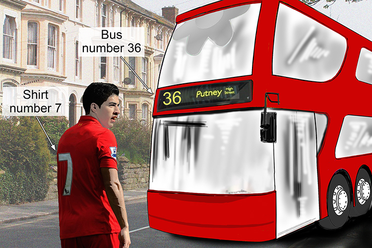 A number naming something is nominal such as 36 bus or shirt number 7