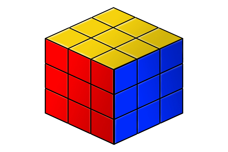 Multiply a number by 3, this will give a cubed answer