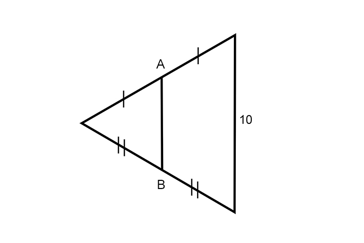 Find the distance of AB using midpoints