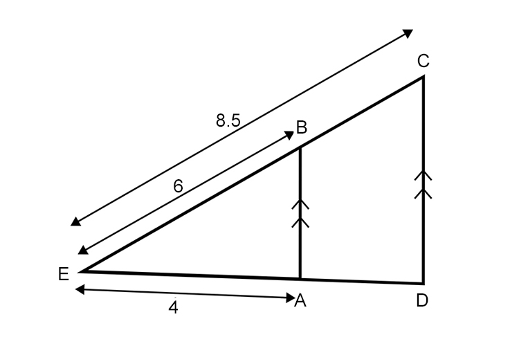 Answer to example 3 explained, length ED equals 5.66