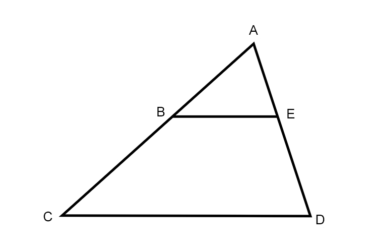 Using the triangle which of the equations are correct to match the shape