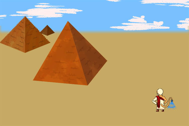 In 640BC Thales lived in Greece, he was asked to measure the oldest pyramid in Egypt
