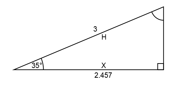 Find value of Y using Pythagoras