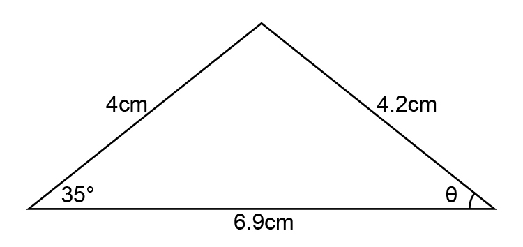 Find the angle to the following diagram