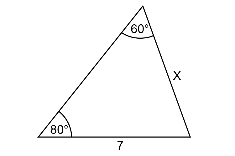 Example 1  find the length of X in the diagram