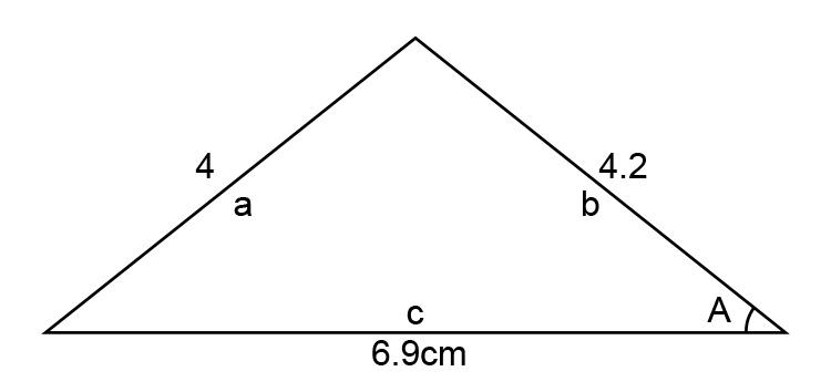 Redraw the triangle to include cosine