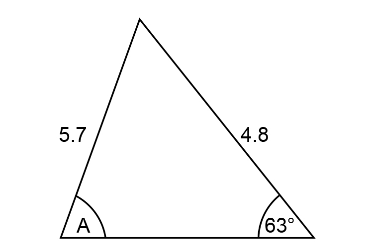 Example 2 find A in the triangle