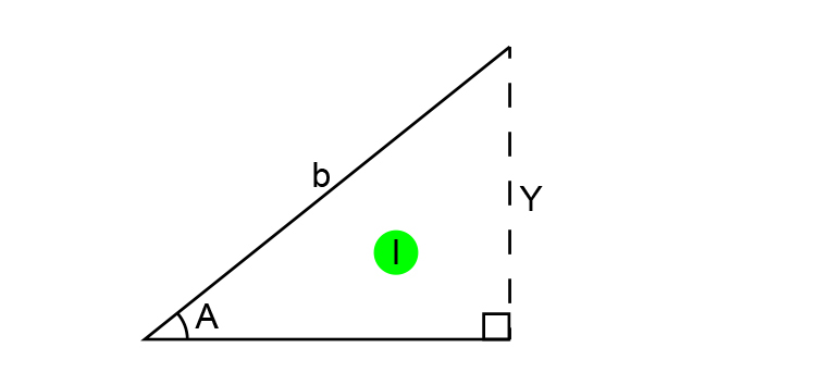 First find the length of Y, the height of the triangle