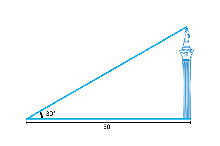 Trigonometry can be used to measure heights of large objects
