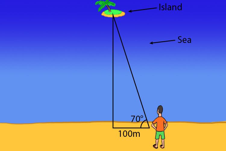 Trigonometry can be used to measure distances or islands